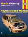Honda Odyssey (99-10) Haynes Repair Manual