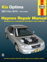 Kia Optima for Optima models (01-10) Haynes Repair Manual