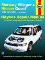 Mercury Villager & Nissan Quest (93-01) Haynes Repair Manual