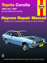 Toyota Corolla RWD (80-87) Haynes Repair Manual