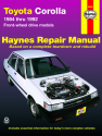 Toyota Corolla FWD (84-92) Haynes Repair Manual