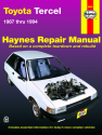 Toyota Tercel (87-94) (excludes FWDs & station wagons) Haynes Repair Manual
