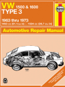 Volkswagen Type 3 1500 & 1600 (63-73) Haynes Repair Manual
