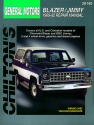 General Motors Blazer/Jimmy (1969-82) for of Chevrolet Blazer & GMC Jimmy for 2 & 4 wheel drive vehicles (gas & diesels) Chilton Repair Manual (USA)