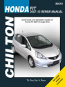Honda Fit Chilton Repair Manual for 2007-13