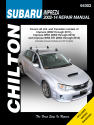 Subaru Impreza, (02-11), WRX (02-14) & WRX STI (04-14) (Includes Impreza Outback & GT models) Chilton Repair Manual (USA)