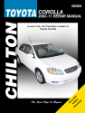 Toyota Corolla (2003-11) (Does not include information specific to XRS models) Chilton Repair Manual (USA)