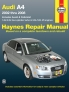 Audi A4 Sedan, Avant, & Cabriolet (2002-2008) Haynes Repair Manual