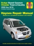 Dodge Grand Caravan & Chrysler Town & Country (08-18) (Including Caravan Cargo) Haynes Repair Manual