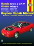 Honda Civic (96-00), CR-V (97-01) & Acura Integra (94-00) Haynes Repair Manual