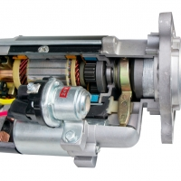 starter motor cutaway