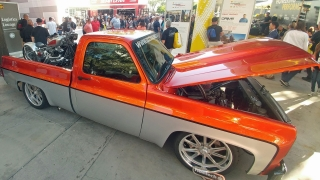 chevy squarebody truck with ridetech suspension