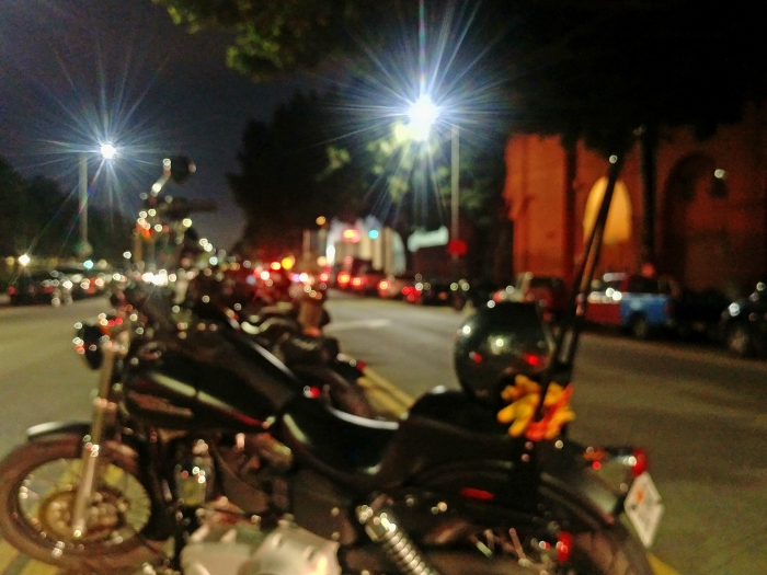 The 3rd annual womens motorcycle show lucky wheels garage los bikes lined up along center of street solutioingenieria Gallery