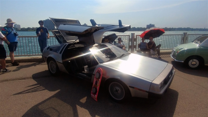 The owners of the Delorean really get into the scene
