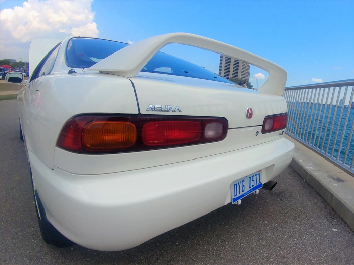 Understated compared to other brands, this wing was huge for a factory Honda item.
