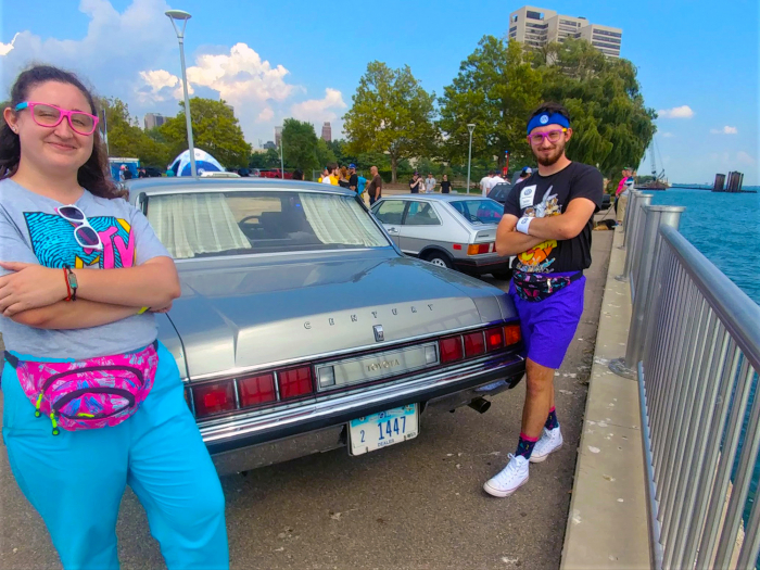 Toyota Crown owners nevertheless dress like young fashionable 80s kids