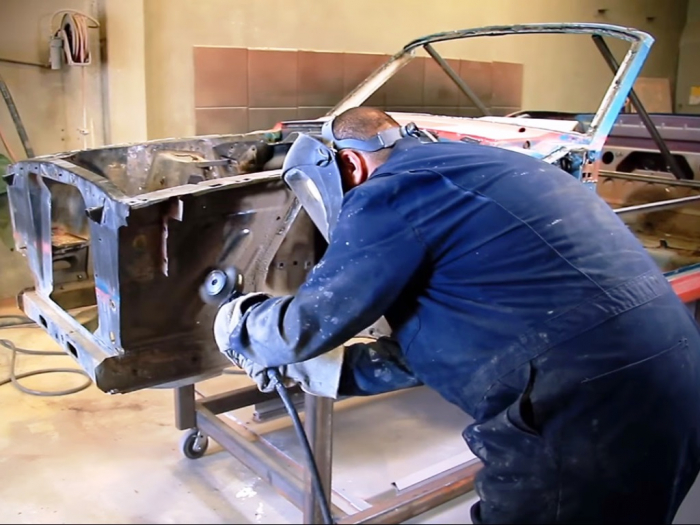 Unfortunately, undercoating needs to be stripped manually with power tools because it is so tenacious