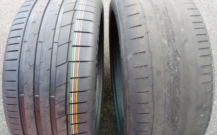 Destroyed drift tires