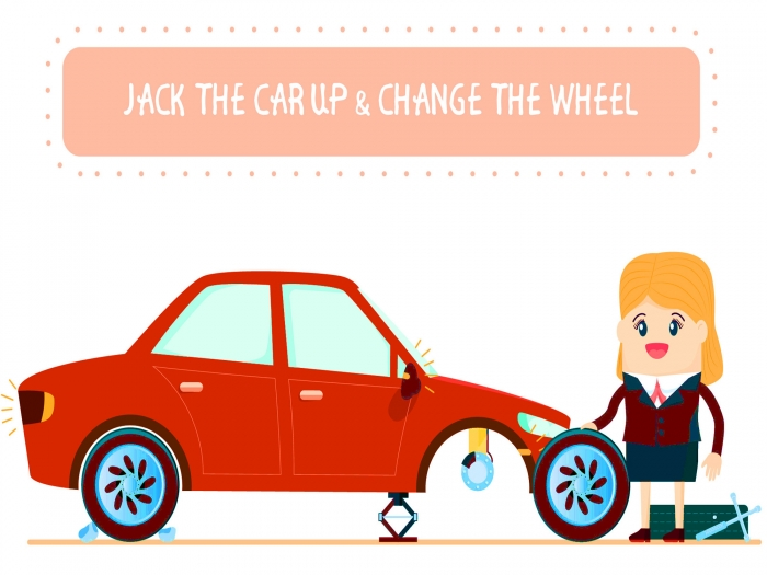 Jack the car and remove wheel