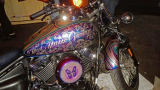Not a Harley, but a Yamaha V-star based custom with amazingly intricate paint