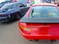 Porsche 928/4 with a more sedate colored Nissan Skyline