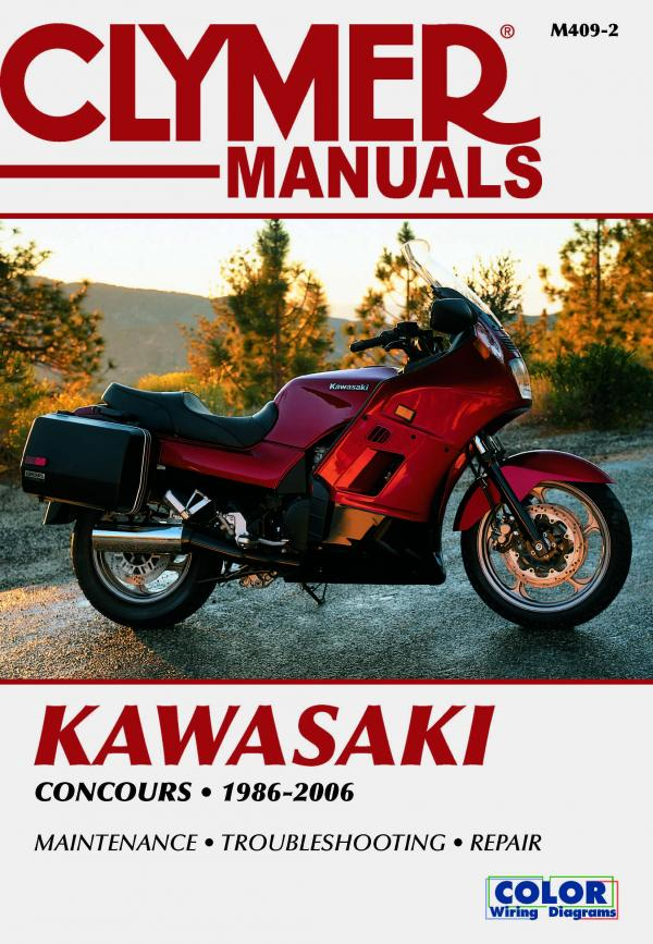 Manual cover for Kawasaki ZG1000 Concours Motorcycle (1986-2006) Service Repair Manual Online Manual