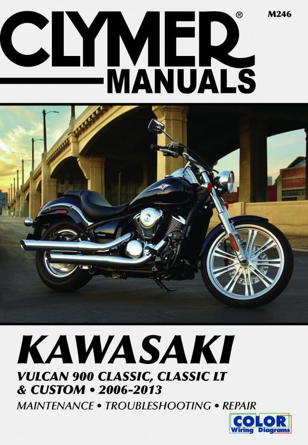 Manual cover for Kawasaki Vulcan 900 Classic, Classic LT & Custom Motorcycle (2006-2013) Service Repair Manual Online Manual