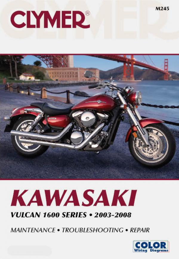Manual cover for Kawasaki Vulcan 1600 Series Motorcycle (2003-2008) Service Repair Manual Online Manual